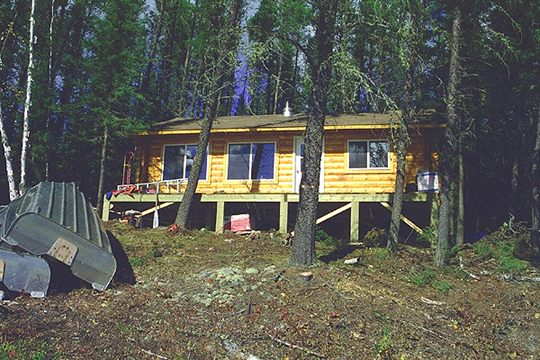 Whitelaw Lake Outpost for                         Canadian fly in fishing